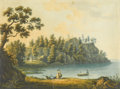 Prints:European Modern, After MORTINOFF. A Scene in Russian Finland, The Seal of a Nobleman near Wyburg. Aquatint by M. Merigot. 16-3/4in. x 20-... (Total: 1 Item)