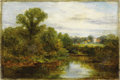 Fine Art - Painting, American:Antique  (Pre 1900), Attributed to EDWARD MITCHELL BANNISTER (American, 1828-1901).Summertime. Oil on canvas. 12in. x 18in.. Inscribed on th...(Total: 1 Item)