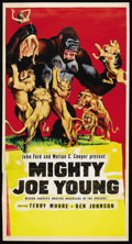 "Movie Posters:Adventure, Mighty Joe Young (RKO, R-1953). Three Sheet (41"" X 81""). Adventure...."