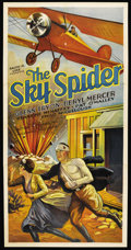 "Movie Posters:Drama, The Sky Spider (Action Pictures Inc., 1931). Three Sheet (41"" X81""). Drama. ..."