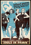 "Movie Posters:Drama, Souls in Pawn (Real Life Dramas, 1940). Poster (41"" X 61""). Drama...."
