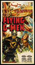 "Movie Posters:Serial, Flying G-Men (Columbia, 1939). Three Sheet (41"" X 81""). Serial. ..."