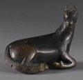 Asian:Chinese, FIGURE OF A HORSE. Bronze figure of a recumbent horse. 2-1/4in.high x 3in. long. ...