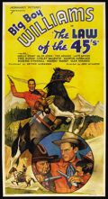 """Movie Posters:Western, The Law Of The 45's (Normandy, 1935). Three Sheet (41"""" X 81""""). Western. ..."""