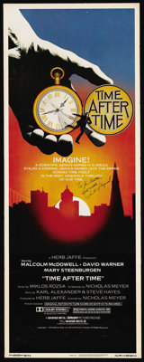 """Time After Time (Warner Brothers, 1979). Insert (14"""" X 36""""). Science Fiction"""