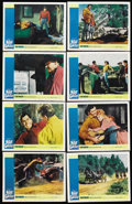 "Movie Posters:Adventure, The Night of the Grizzly (Paramount, 1966). Lobby Card Set of 8(11"" X 14""). Adventure. ... (Total: 8 Items)"