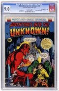 "Golden Age (1938-1955):Horror, Adventures Into The Unknown #38 Davis Crippen (""D"" Copy) pedigree(ACG, 1952) CGC VF/NM 9.0...."
