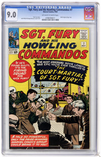 Sgt. Fury and His Howling Commandos #7 (Marvel, 1964) CGC VF/NM 9.0 Off-white to white pages