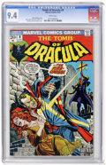 Bronze Age (1970-1979):Horror, Tomb of Dracula #9 (Marvel, 1973) CGC NM 9.4 White pages....