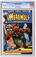 Bronze Age (1970-1979):Horror, Werewolf by Night #25 (Marvel, 1975) CGC NM 9.4 Off-white to whitepages....