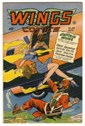 Golden Age (1938-1955):Adventure, Wings Comics #85 Mile High pedigree (Fiction House, 1947) Condition: VF+. Overstreet 2006 VF 8.0 value = $132; VF/NM 9.0 val...