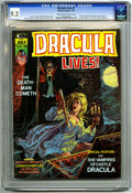 "Bronze Age (1970-1979):Horror, Dracula Lives! #7 (Marvel, 1974) CGC NM- 9.2 Cream to off-whitepages. ""Taste the Blood of Dracula"" movie review. Bram Stoke..."