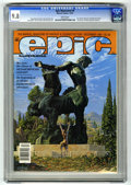 Modern Age (1980-Present):Miscellaneous, Epic Illustrated #9 (Marvel, 1981) CGC NM/MT 9.8 White pages. Jim Starlin interview. Weirdworld begins. Conclusion of Metamo...