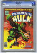 Magazines:Superhero, The Rampaging Hulk #8 (Marvel, 1978) CGC NM 9.4 White pages....
