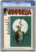 "Bronze Age (1970-1979):Horror, Vampirella #3 (Warren, 1970) CGC FN/VF 7.0 Off-white to whitepages. ""Vampi's Scarlet Letters"" page begins in this issue. Co..."