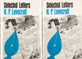 Books:Hardcover, H. P. Lovecraft Selected Letters: Volume I First and SecondEditions (Arkham House, 1965-75).... (Total: 2 Items)
