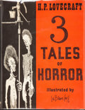 Books:Hardcover, H. P. Lovecraft 3 Tales of Horror (Arkham House, 1967)....