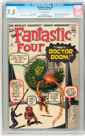 Silver Age (1956-1969):Superhero, Fantastic Four #5 (Marvel, 1962) CGC VF- 7.5 Off-white pages....