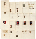 Military & Patriotic:WWI, Fantastic Lot of G.A.R. Badges, Marksman's Badges, Shooting Awards, and Misc. Insignia associated with Two Generations of Indi...