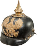 Military & Patriotic:WWI, Prussian Model 1895 Enlisted Spiked Helmet....