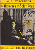 Books:Hardcover, August Derleth The Memoirs of Solar Pons (Arkham House, 1951)....