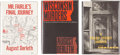 Books:Hardcover, August Derleth Detective-Themed Arkham Editions (Arkham House,1968).... (Total: 3 Comic Books)