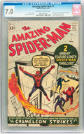 Silver Age (1956-1969):Superhero, The Amazing Spider-Man #1 (Marvel, 1963) CGC FN/VF 7.0 Off-white towhite pages....