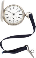 Timepieces:Pocket (pre 1900) , Robert Roskell Liverpool Sterling Lever Fusee, circa 1840's. ...