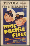 """Movie Posters:Comedy, Miss Pacific Fleet (Warner Brothers, 1935). Window Card (14"""" X22""""). Comedy.. ..."""