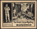 "Movie Posters:Adventure, The Great Circus Mystery (Universal, 1925). Lobby Card (11"" X 14"")Chapter 1 -- ""The Pact of Peril."" Adventure.. ..."