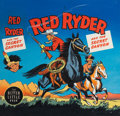 Original Comic Art:Covers, Red Ryder and the Secret Canyon Big Little Book #1454 Cover Original Art (Whitman, 1948)....