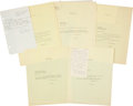 Baseball Collectibles:Others, 1942 Babe Ruth Fan Mail & Response Copies Lot of 4....