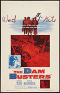 """Movie Posters:War, The Dam Busters Lot (Warner Brothers, 1955). Window Card (14"""" X22"""") and One Sheet (27"""" X 41""""). War.. ... (Total: 2 Items)"""