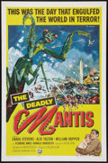 "Movie Posters:Science Fiction, The Deadly Mantis (Universal International, 1957). One Sheet (27"" X41""). Science Fiction.. ..."