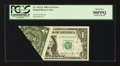 Error Notes:Foldovers, Fr. 1912-E $1 1981A Federal Reserve Note. PCGS About New 50PPQ.....