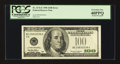 Error Notes:Partial Third Printing, Fr. 2176-E $100 1999 Federal Reserve Note. PCGS Extremely Fine 40PPQ.. ...