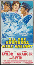 "Movie Posters:Adventure, All the Brothers Were Valiant (MGM, 1953). Three Sheet (41"" X 81"").Adventure.. ..."