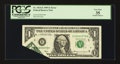 Error Notes:Foldovers, Fr. 1924-E $1 1999 Federal Reserve Note. PCGS Very Fine 35.. ...