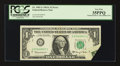 Error Notes:Foldovers, Fr. 1901-G $1 1963A Federal Reserve Note. PCGS Very Fine 35PPQ.....