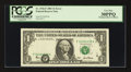 Error Notes:Shifted Third Printing, Fr. 1926-F $1 2001 Federal Reserve Note. PCGS Very Fine 30PPQ.. ...