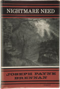 Books:Hardcover, Joseph Payne Brennan Nightmare Need (Arkham House, 1964)....