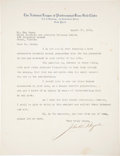 Baseball Collectibles:Others, 1934 John Heydler Signed Letter....