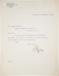 Baseball Collectibles:Others, 1913 Ban Johnson Signed Typed Letter. ...