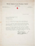 Baseball Collectibles:Others, 1938 Eddie Collins Signed Letter. ...
