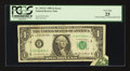 Error Notes:Attached Tabs, Fr. 1913-F $1 1985 Federal Reserve Note. PCGS Very Fine 25.. ...