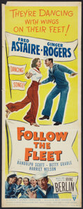 """Movie Posters:Musical, Follow the Fleet (RKO, R-1953). Insert (14"""" X 36"""") and Lobby Card (11"""" X 14""""). Musical.. ... (Total: 2 Items)"""