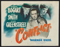 "Movie Posters:Drama, Conflict (Warner Brothers, 1945). Title Lobby Card (11"" X 14""). Drama.. ..."