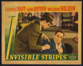 "Movie Posters:Crime, Invisible Stripes (Warner Brothers, 1939). Lobby Card (11"" X 14"").Crime.. ..."