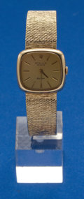 Timepieces:Wristwatch, Rolex, Ladies Cellini Gold Bracelet Watch. ...