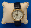 Timepieces:Wristwatch, Ebel, 18k Gold Automatic 39 mm Chronograph With Original Box. ...